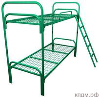 Прочные одноярусные кровати металлические для строительных вагончиков, бытовок