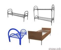 Прочные двухъярусные кровати металлические с ДСП спинкой